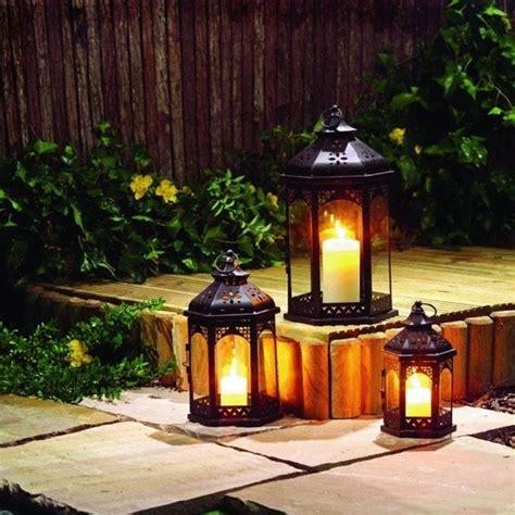 lanterne per candele da esterno per giardino illuminazione giardino illuminare il
