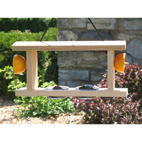 Backyard Woodshop by Backyard Boys Woodworking 2 Place Oriole Feeder By