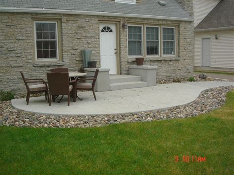 Simple Concrete Patio Designs Cement Patio Concrete Patio Minneapolis Cities Mn Garden Pinterest Patio Ideas
