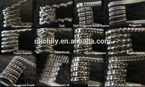 Triplecorecoils Fused Clapton Twisted Messes Wire Prebuilt Vape Coils excellent staggered fused clapton wire nichrom photos everything you need to about wiring