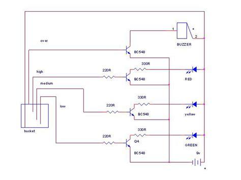 water level indicator using bc548 transistor mini project