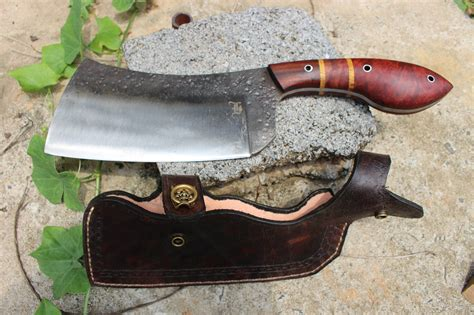 Handmade Butcher Knives - forged butcher s cleaver best cleaver handmade
