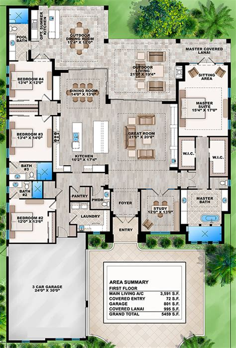 house plans for entertaining house plan 207 00031 contemporary plan 3 591 square 4 bedrooms 4 5 bathrooms outdoor