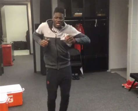 gf locker room clint capela belts out some r while dwight howard laughs houston chronicle