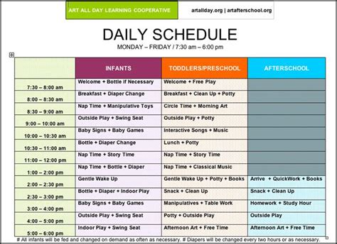 Child Care Daily Routine Template by Pictures Of Preschool Daily Routines Arts Afterschool