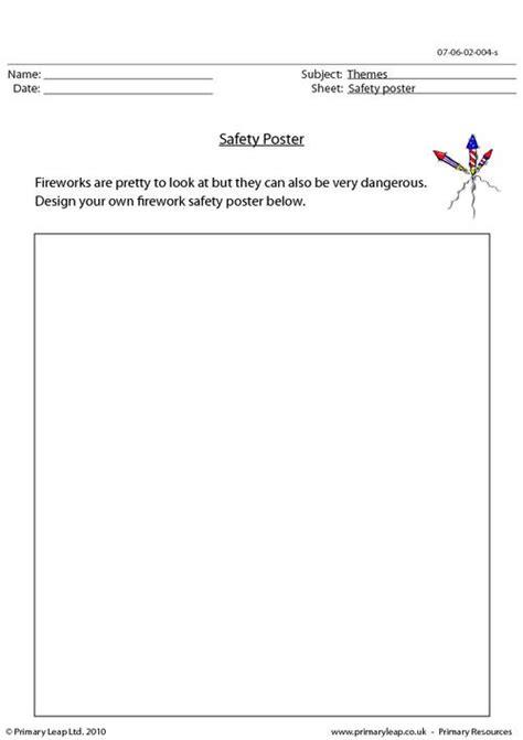 poster design worksheet safety poster primaryleap co uk