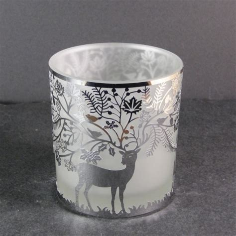 Big Glass Candle Holders Stylys Large Glass Tealight Candle Holder Deer