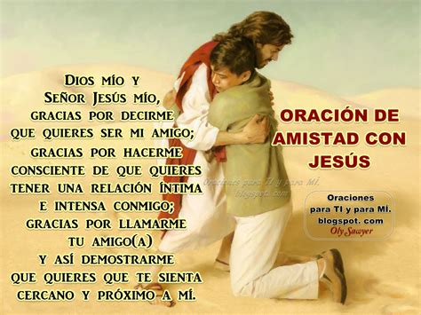 imagenes de amor y amistad con jesus oraciones para ti y para m 205 oraci 211 n de amistad con