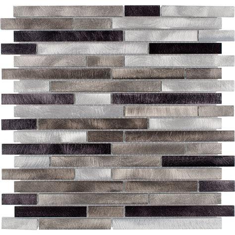 shop elida ceramica chagne mix linear mosaic metal wall