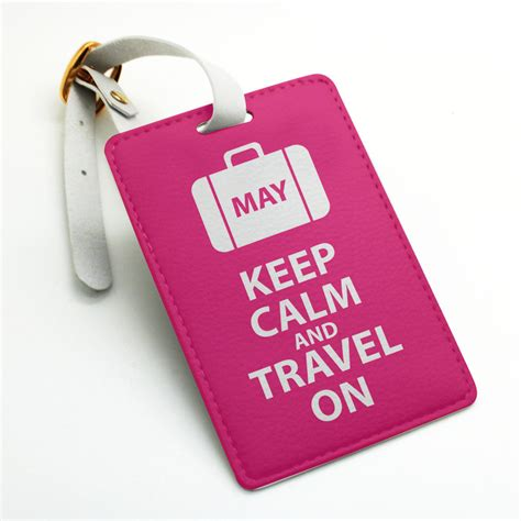 custom tags personalized custom name tag keep calm and travel on name tag luggage tag bag tag