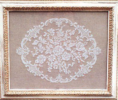 work pattern in french french cross stitch pattern soft linen and cream colors