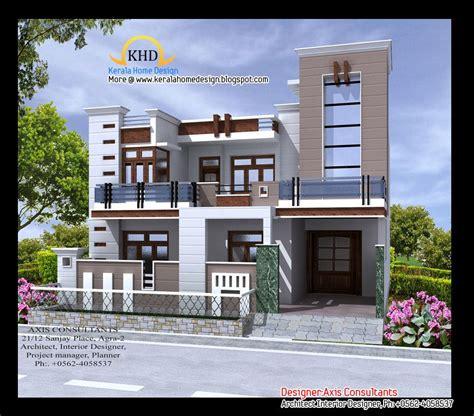 front elevation design for bhavana s 40 x 50 sw corner duplex house in bangalore front front elevation indian house designs houses pinterest