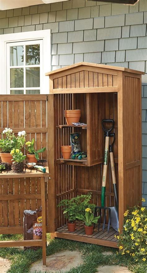 Small Garden Storage Ideas 27 Unique Small Storage Shed Ideas For Your Garden Storage Cabinets Storage And Gardens