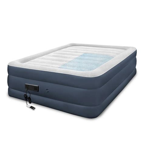 biopedic sharper image premier memory foam 24 in air mattress 20145 the home depot