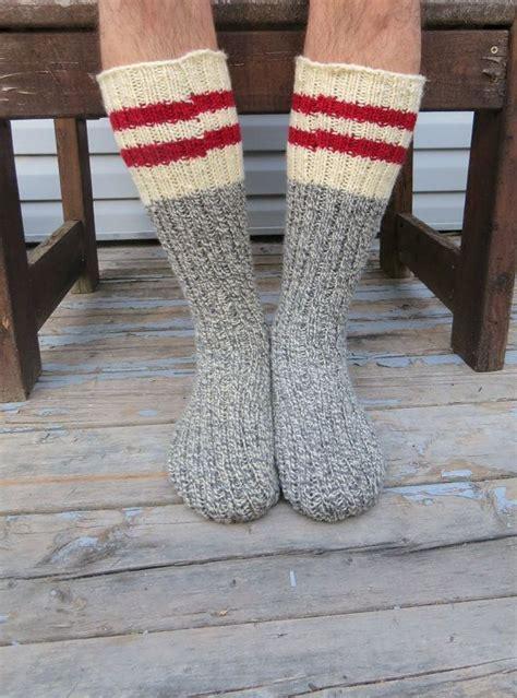 wool socks pattern to knit knit wool socks hand knit mens grey white twist with red