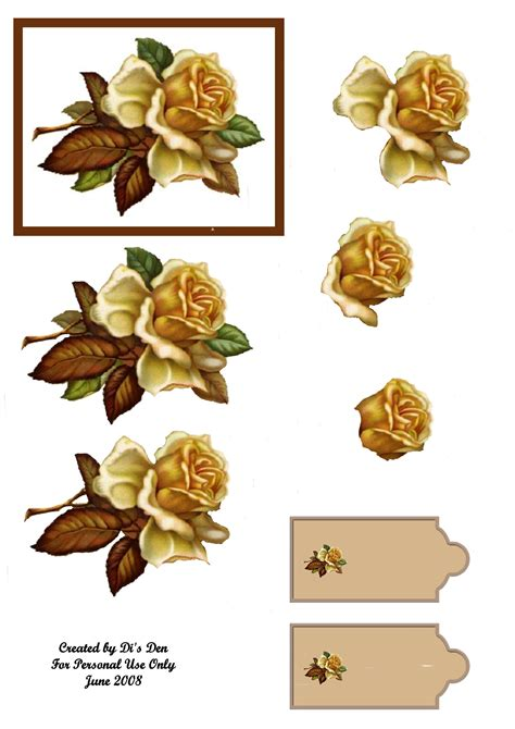 Decoupage Sheet - pin free decoupage sheets d printable on