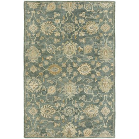Area Rugs 6 X 8 Kalaty Seville Mineral Blue 5 Ft 6 In X 8 Ft 6 In Area Rug Sv 753 69 The Home Depot