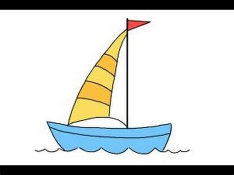 how to draw a speedboat easy how to draw a simple boat youtube