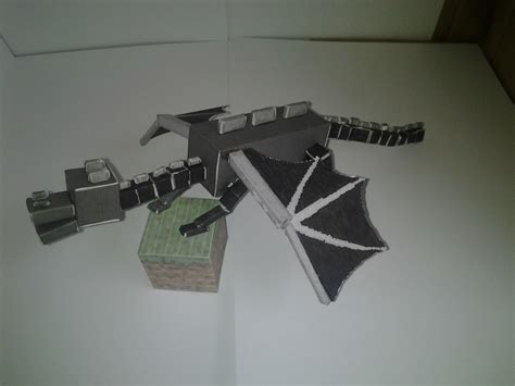 Minecraft Papercraft Enderdragon - papercraft cutout minecraft enderdragon gaming now