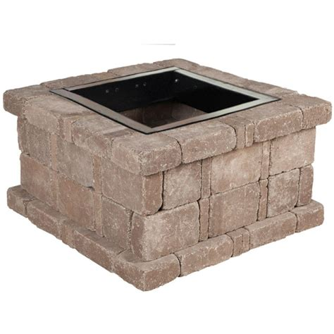 pit kit pavestone rumblestone 38 5 in x 21 in square concrete pit kit no 3 in cafe caf 195 169 shop