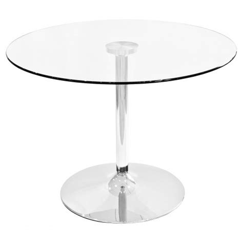 clear glass dining table 100cm diameter