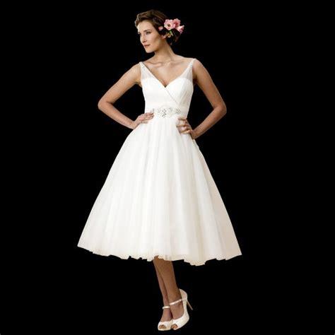 50 s style wedding dresses plus size jane 1950s tea length wedding dress with sheer strap w112
