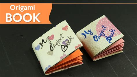 How To Make A Tiny Book Out Of Paper - small origami book easy diy origami paper craft