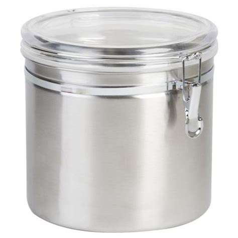 kitchen stainless steel canisters walmart com anchor hocking stainless steel cl canister with clear