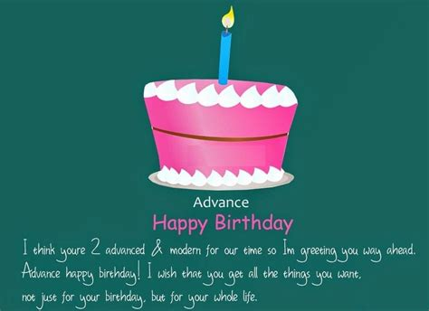 Find Happy Birthday Wishes Happy Early Birthday Wishes Advance Birthday Quotes