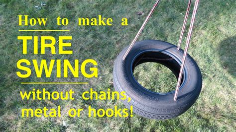 how to hang a tire swing from a tall tree how to make a tire swing won t hurt your kids teeth