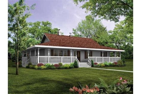 One Story Farmhouse Plans by Eplans Farmhouse House Plan Wraparound Porch To Capture