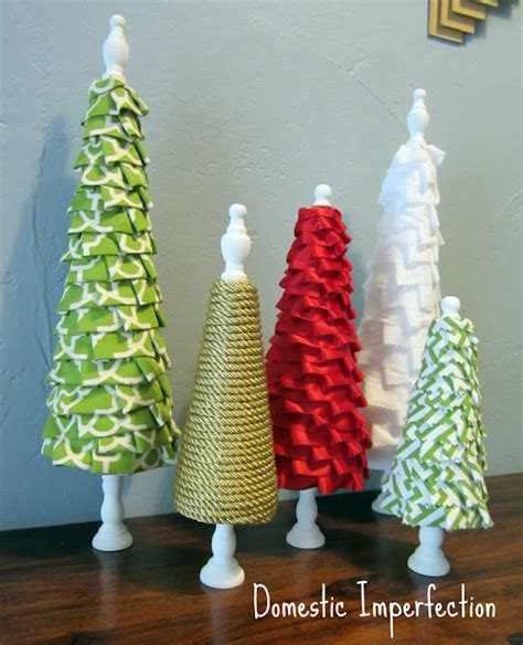 how to make fabric trees blast from the past no sew ruffle tree forest domestic