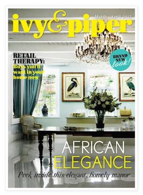 and piper magazine march 2012 home decor