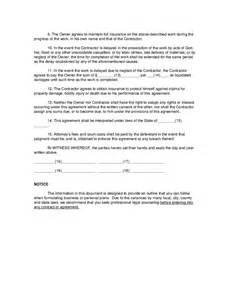 Agreement Between Owner And Contractor Template by Agreement Between Owner And Contractor Hashdoc