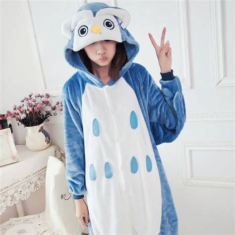 piyama katun pajamas owl kostum hewan berkerudung promotion shop for promotional
