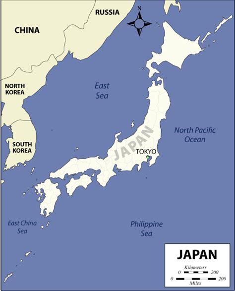 map japan japan map asia