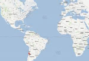 chile location on world map santiago plan