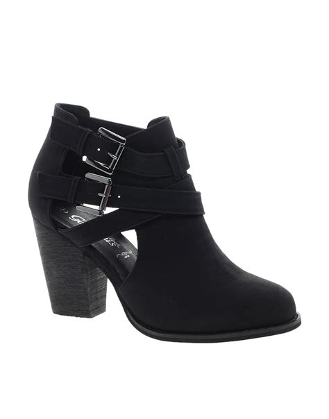 new look new look chilly cut out ankle boots at asos