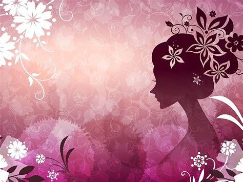 wallpaper vector girl pink girl vector flower wallpapers free desktop
