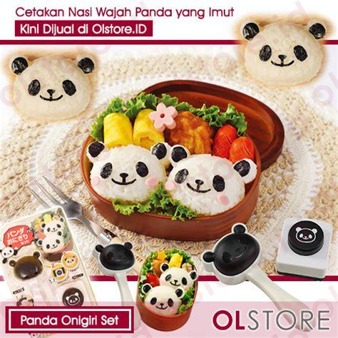 Cetakan Nasi Bento Pemotong Nori Mini Panda jual bento tools panda onigiri set jual cetakan