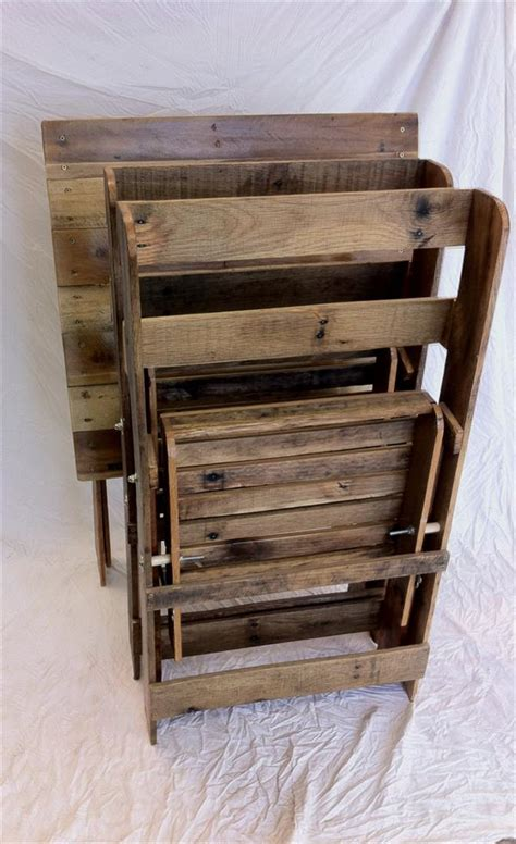 Diy Folding Chair by Pallet Folding Chairs And Table Pallet Furniture Plans