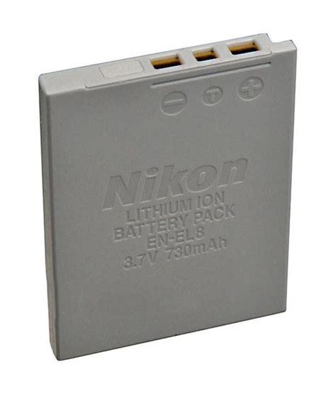 Mp Nikon En El8 Battery nikon en el8 lithium ion battery 3 7v 730mah for coolpix p1 p2 s1 s2 s3 digital price