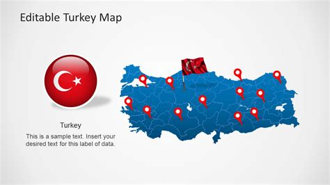 Turkey Map Template For Powerpoint Slidemodel Turkey Powerpoint Template