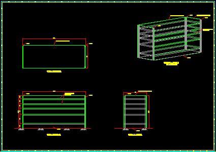 storage shelves  dwg detail  autocad designs cad