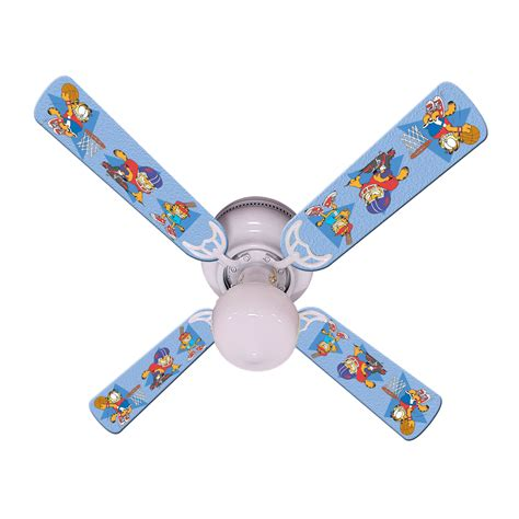 kids ceiling fans ceiling fan blue garfield the cat sports fan by all