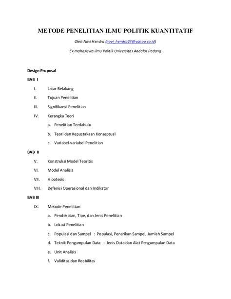 contoh layout proposal penelitian design proposal metode penelitian ilmu politik kuantitatif