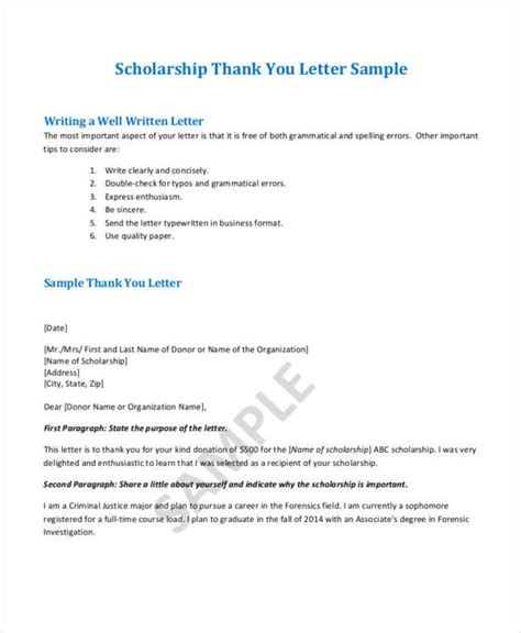 Thank You Letter College 34 Free Thank You Letters Free Sles In Pdf Doc