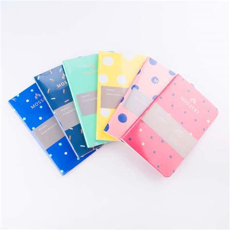 notebook pocket pattern hopscotch design led stationery