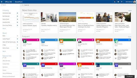 Announcement Sharepoint Home In Office 365 And Team News Updates Across Web And Mobile Bayen Sharepoint Home Page Templates