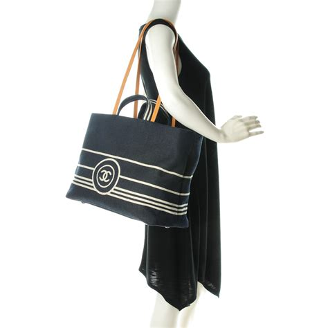 Large Shopping Tote chanel denim large shopping tote black 154223